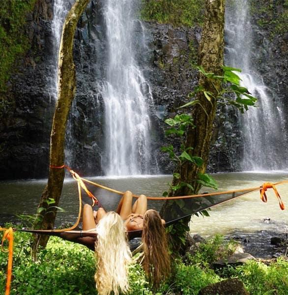 Photo of two women in a Tentsile hammock