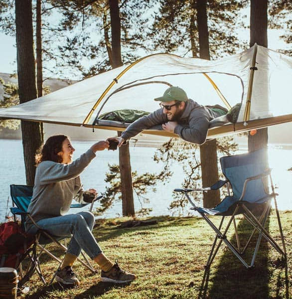 Photo of a couple in a Tentsile