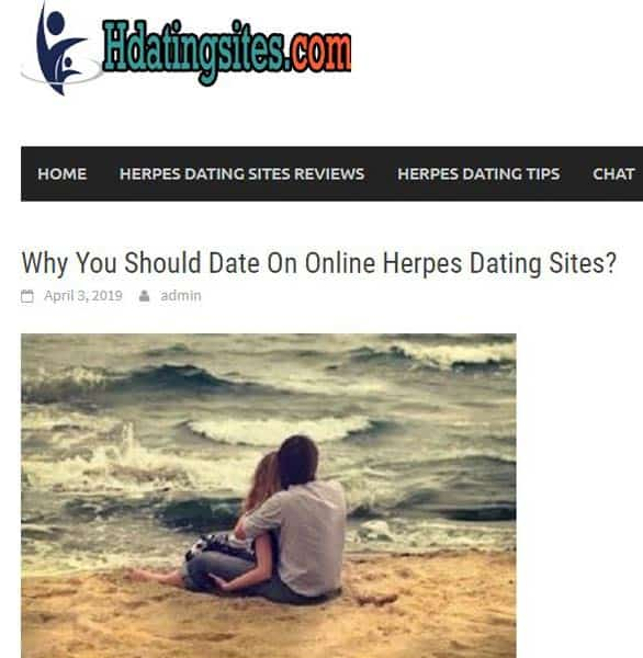 Screenshot of HDatingSites.com