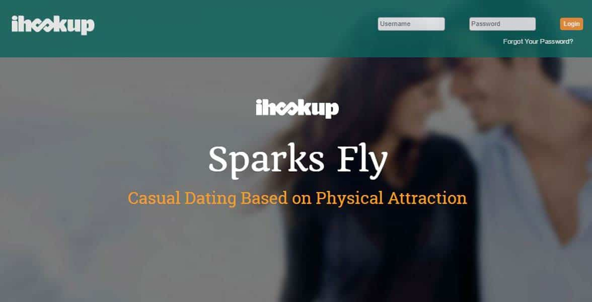 Screenshot of iHookup