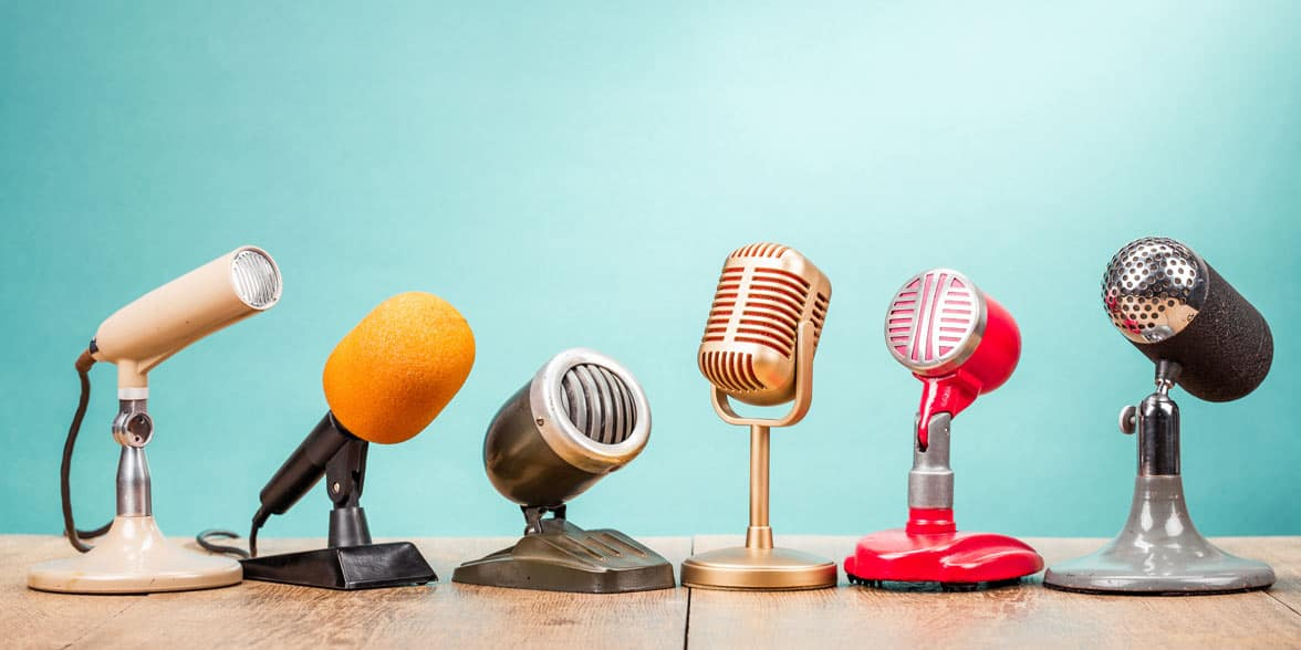 Photo of microphones
