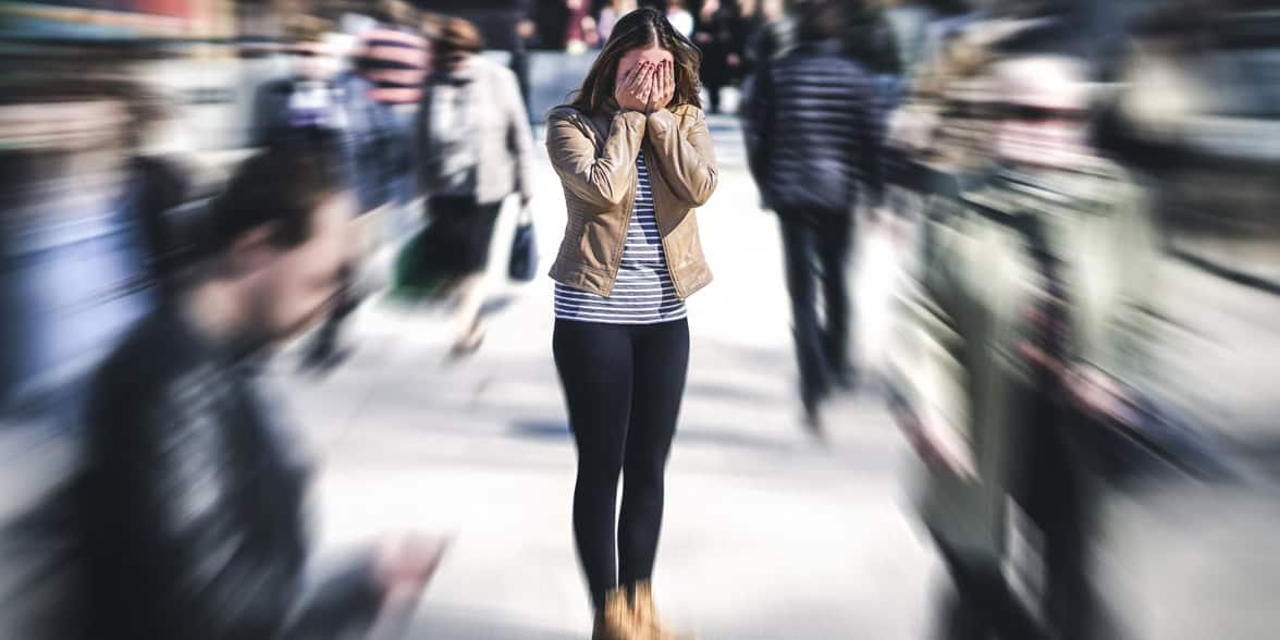 Photo of a woman with anxiety