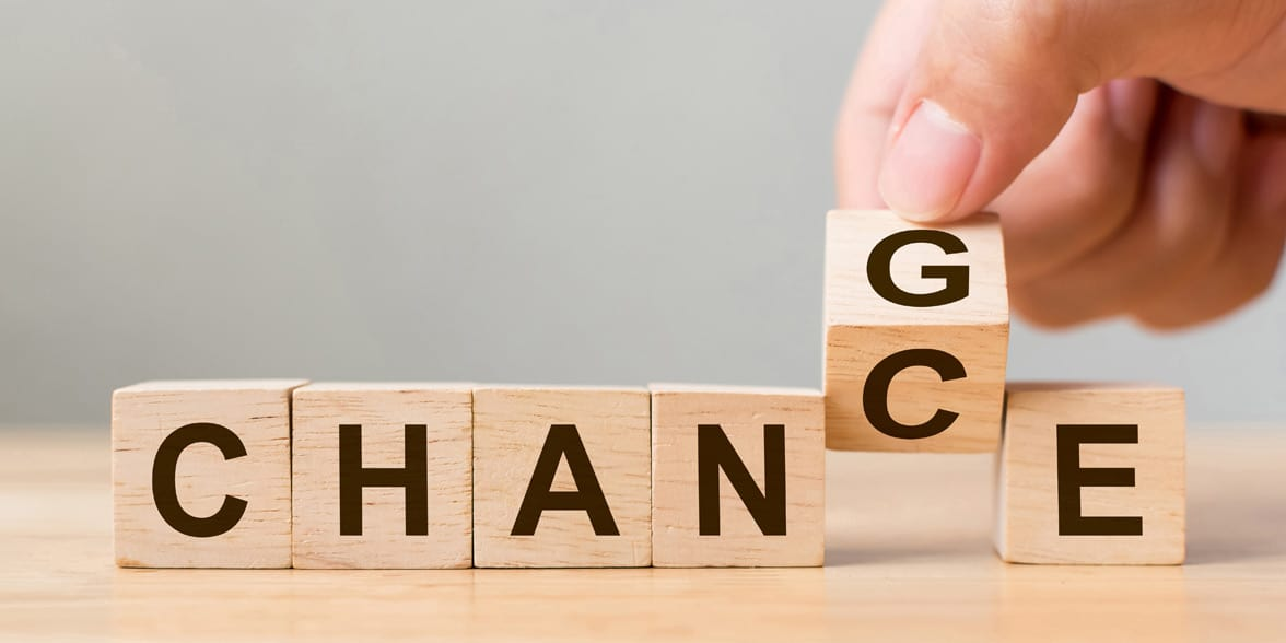Photo of the word change