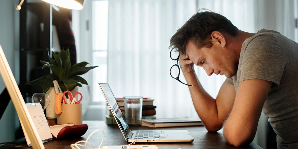 Photo of a stressed man