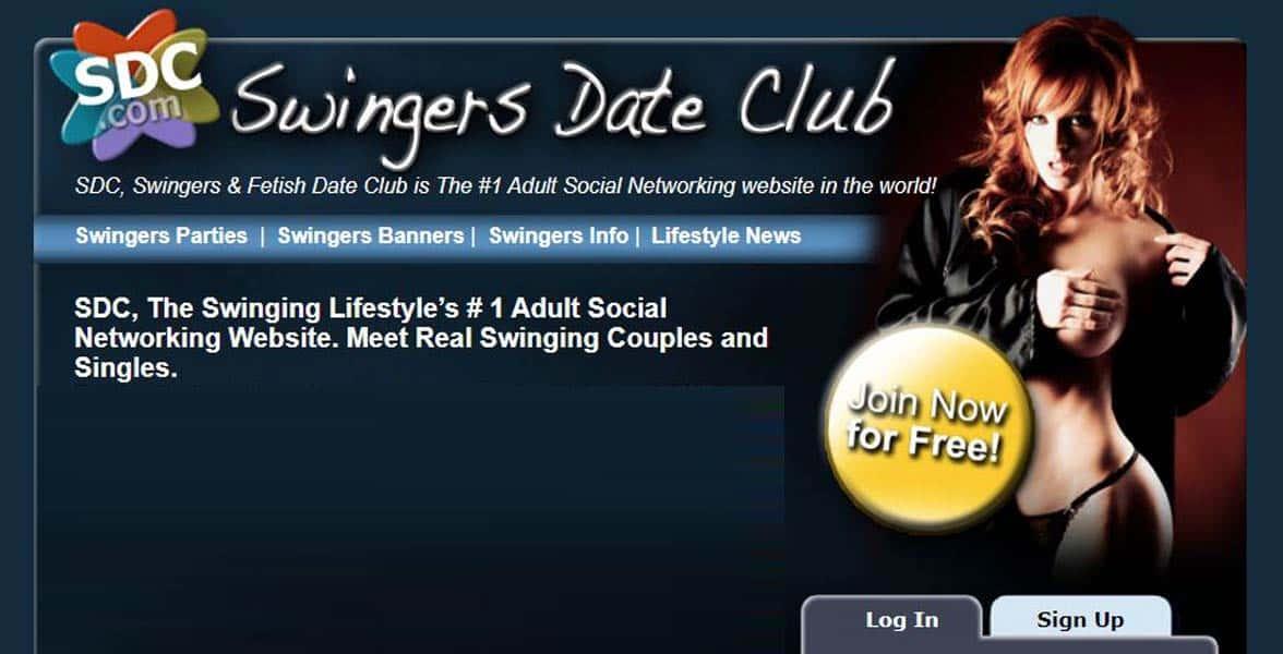 Screenshot of Swingers Date Club